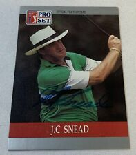 hand signed autographed PGA card ~ J.C. SNEAD