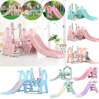 Toddler Indoor/Outdoor playground Set Swing Slide Set And Backyard Baskets Kit🔥