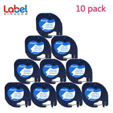 10 PACK LT 91331 Dymo Letratag Refill Compatible with Dymo Label Maker Tape 12mm