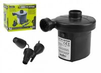 DC 12V & BATTERY POWERED ELECTRIC AIR PUMP FOR INFLATABLE BED AIRBED CAMPING