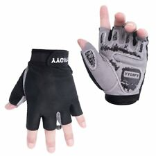 Cycling Gloves with Shock-Absorbing Gel Pad Breathable Half Finger Bicycle Large