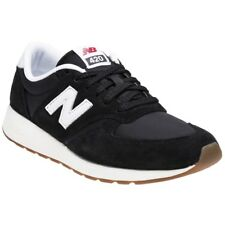 New Boys New Balance Black 420 Suede Trainers Retro Lace Up