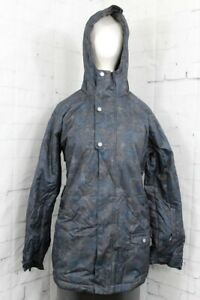 Bonfire Halifax Insulated Snowboard Jacket, Women's Medium, Camo Indigo New
