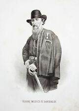 c1860 Ripari Pietro Lithographie-Porträt Riccio Arzt Politiker