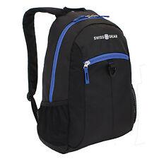 """Brand New SwissGear Student Backpack For 15"""" Laptops, Black/New Royal"""