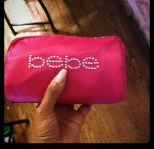 Bebe 'blingy' cosmetic pouch/makeup bag -hot pink