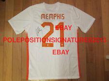Memphis Depay signed 2015 Netherlands Nike Soccer Jersey Manchester United