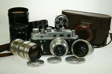 Zorki 2c set con 3,5/50-2,8/35-4,0/135 u. universsu. #58114064 m39 LTM