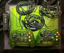 New ListingMicrosoft Original Special Edition Halo Xbox Console - Tested & Works w/ 7 Games