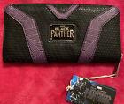 LOUNGEFLY Marvel Black Panther Zip Around Wallet/Purse Purple & Black BNWT