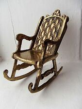Vintage Brass rocking chair in great condition