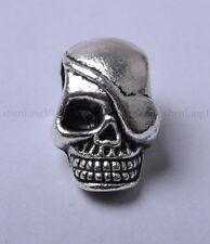 5pcs Tibetan Silver skull Spacer Beads 20X13MM SH827