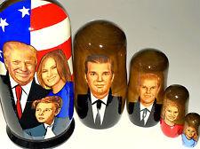 """7 1/2"""" 5p NESTING DOLL USA PRESIDENT TRUMP FAMILY MELANIA IVANKA rus MATRYOSHKA"""
