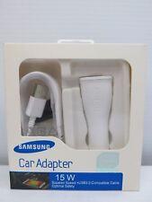 15W Samsung Car Charger Adaptor W USB Cable NIB Original OEM EP-LN915UCWEGSTD