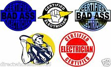 Lot of (5) Electrician Helmet Stickers decal Art Wall Vinyl Sticker Decals Decor