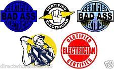 Lot of (5) Electrician Helmet Stickers decal Art Wall Vinyl Sticker Decals Decor