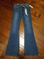 New AMERICAN RAG CIE Junior Sizes 0 to 15 High Rise Flare Super Soft Denim Jeans