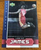Rare NM-Mint 2003 Upper Deck 3D Hologram LeBron James Jumbo RC- Rookie