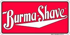 BURMASHAVE metal license plate for Barber Shop beard trimmer shaving fans