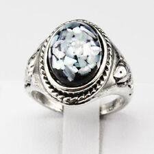 Shells Amber Gemstone New  Jewelry 925 Silver Men Women Ring Size 8