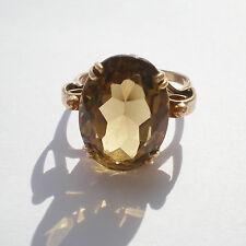 Stunning Antique 9ct Gold Scottish Citrine Ring c1935; UK Ring Size 'N'