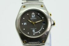 SEIKO KINETIC ARCTURA 5M42-0E39 STAINLESS STEEL WATCH (WORKS GREAT!) (NJL018451)