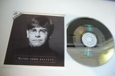 ELTON JOHN CD SINGLE CARDSLEEVE FRENCH PRESS. BELIEVE / THE ONE (LIVE).