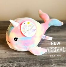 """Kellytoy Squishmallow 11.5"""" NEW Narwhal Pink Tie Dye LT ED HTF RARE Plush Toy"""