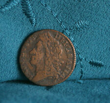 Ireland Shilling 1689 Dec Brass World Coin Eire RARE Hibernia Irish Gun Money