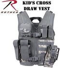 Kids Cross Draw Tactical Vest Camouflage Military MOLLE Tactical Vest