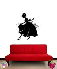 Wall Stickers Vinyl Decal Cinderella Girl In Night Gown Fairytale  (z1890)