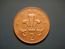 Great Britain 2 Pence, 1999, Welsh plumes and crown