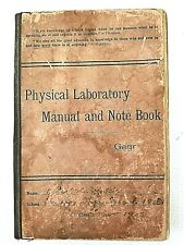 Vintage Physics Science Physical Laboratory Manual  Notebook 1902 Alfred P Gage