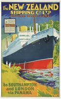 New Zealand shipping old Vintage art Poster Print canvas painting royal mail
