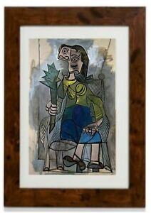 """""""Woman with Artichoke"""" Framed print by Pablo Picasso"""