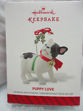 2014 Hallmark Ornament PUPPY LOVE 24th in series Bulldog French ? NEW