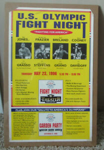 VINTAGE BOXING POSTER U.S. OLYMPIC FIGHT NIGHT JOE FRAZIER GERRY COONEY MORE