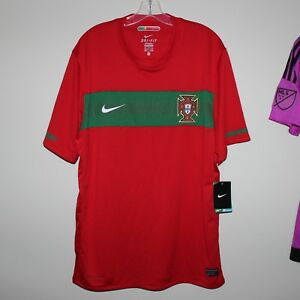 BNWT original PORTUGAL 2010-11 home shirt Nike XL football jersey World Cup