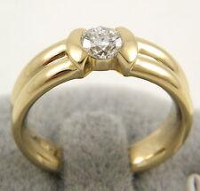 Natürliche Ringe aus Gelbgold mit Solitär-Stil