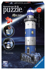 LIGHTHOUSE AT NIGHT EDITION 216 PIECE 3D JIGSAW PUZZLE RAVENSBURGER