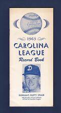 1963 Carolina League baseball record book - Rusty Staub cover