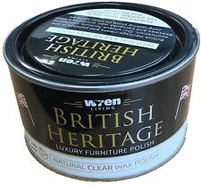 Furniture Wax Polish British Heritage Natural Clear Wax Polish Beeswax by Wren