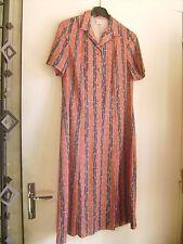 Robe vintage imprimée multicolore T 42 fabrication française neuve