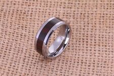 Wood Ring Tungsten Cocobolo Women's or Men's Ring Band