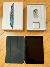 Apple iPad Mini 2 Space Gray 32GB Wi-Fi + Cellular Unlocked 7.9in & Smart Cover