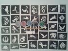 Boys mini small themed glitter tattoo set inc. 50 stencils  glitter colors