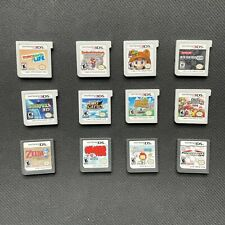 12 Authentic Nintendo 3DS and DS games with box and inserts