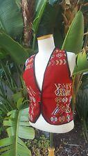 Guatemala embroidered Vest Small/Medium cotton Unisex style Mayan ethnic designs