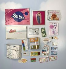 Barbie Doll Accessories: Paperboard Cutouts Credit Cards Newspaper Maps