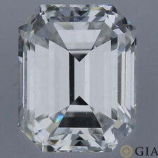 GIA certified 3 carat Emerald Cut Diamond H color SI1 clarity Ideal no fl. loose